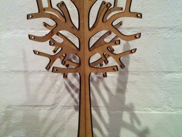 Tree for Jewelry  3 mm wood