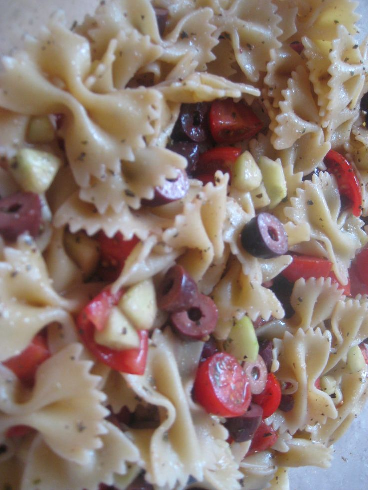 Greek Pasta Salad- I haven't made the pasta salad, but just the dressing