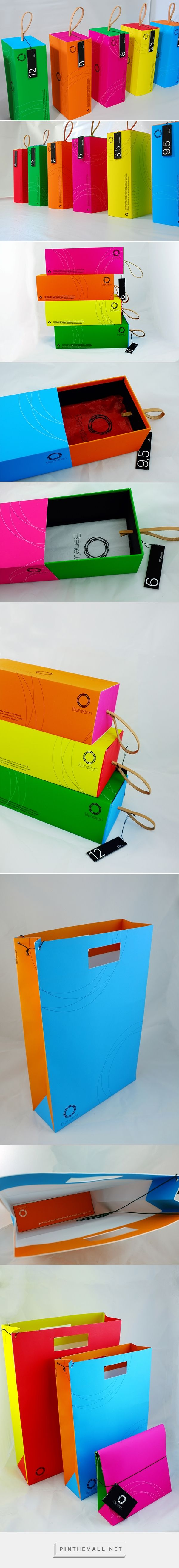 Benetton In-store packaging on Behance by Yiling Tsai curated by Packaging Diva PD. If you like color then this is the pin for you.