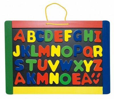 Woody Magnetická tabuľa s písmenami