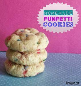 Funfetti Cookie Recipe--From Scratch! www.burntapple.com #cookie #funfetti #cookierecipes