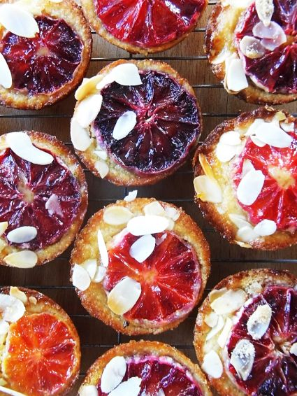 blood orange tea cakes - gluten free option