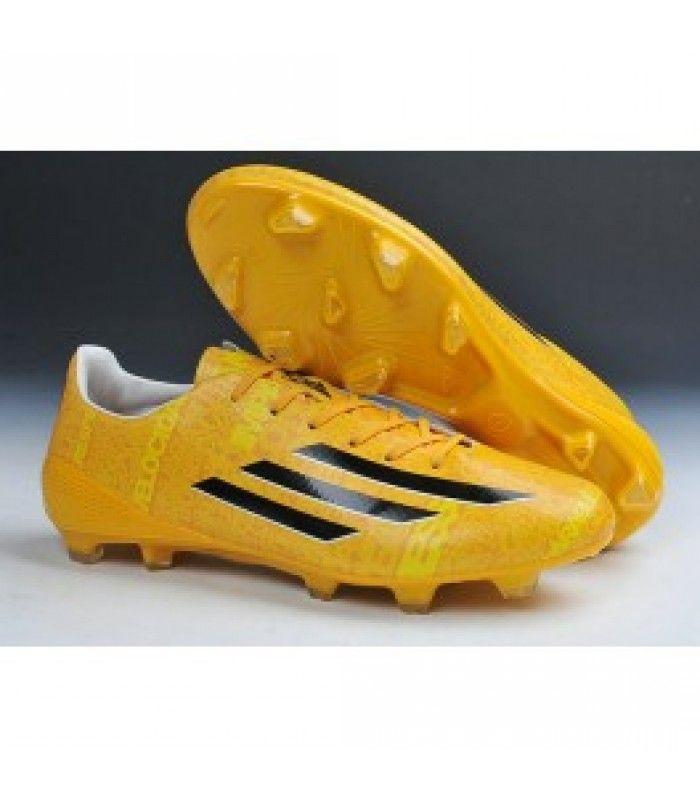 Acheter Adizero F50 Trx Fg Syn Messi - Chaussures Football Homme Adidas - Neuf Noir Jaune pas cher en ligne 87,00€ sur http://cramponsdefootdiscount.com