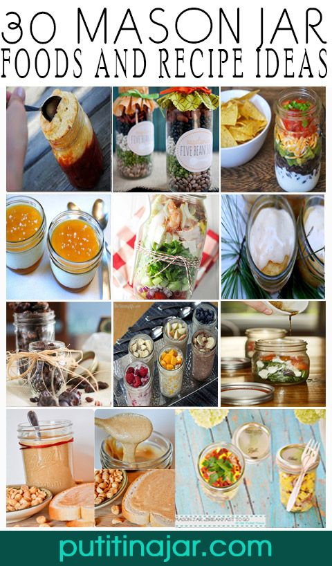 HUGE LIST OF 30 Mason Jar #Foods and #Recipe #Ideas | via putitinajar.com