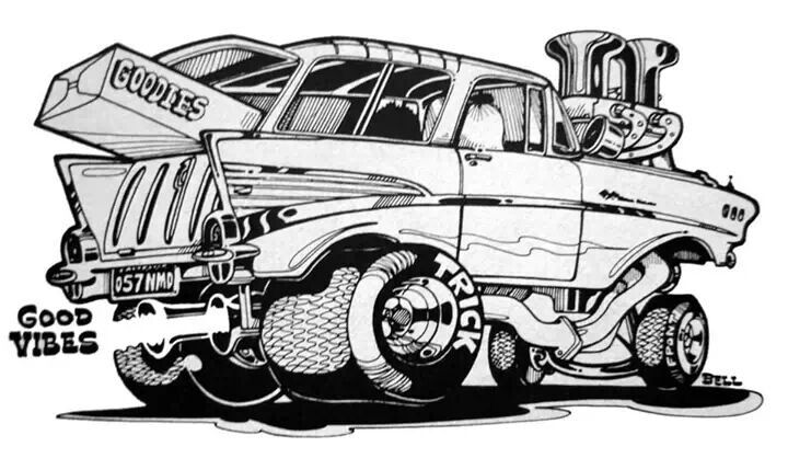 crazy car coloring pages - photo#22