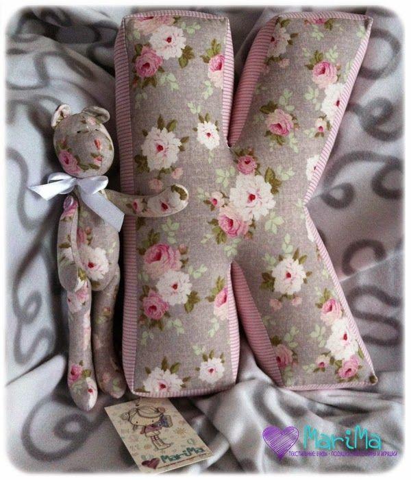 Текстильные: буквы - подушки, аксессуары и игрушки: Мои любимые мишки