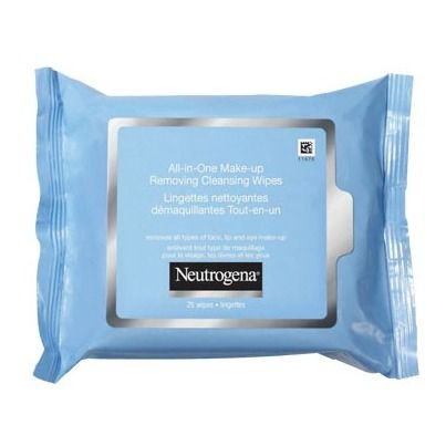 #Neutrogena All-in-One Make-Up Removing Cleansing Wipes. The best! I use these before I wash my face every night to make sure I take all my makeup off.