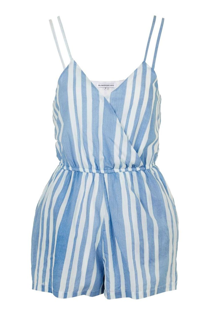 **Wrap Front Playsuit by Glamorous Petites