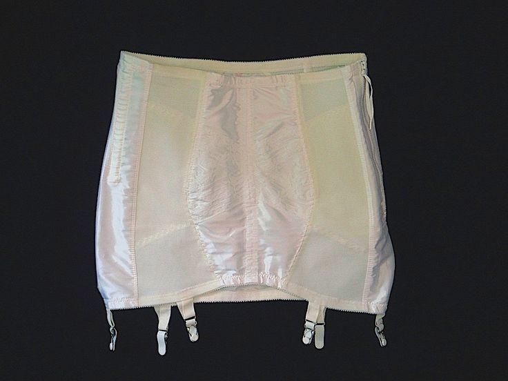 Smoothie Open Bottom Girdle in White Size 32 by EyeSpyGoods on Etsy