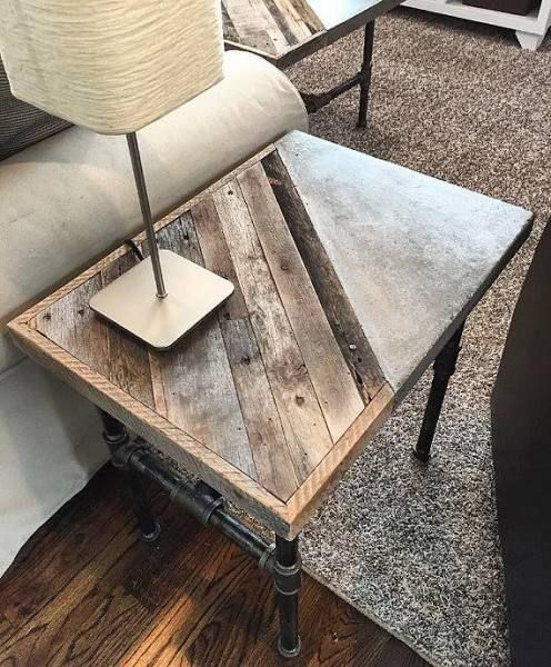 Best 25 concrete furniture ideas on pinterest concrete table concrete table top and diy concrete Concrete and wood furniture