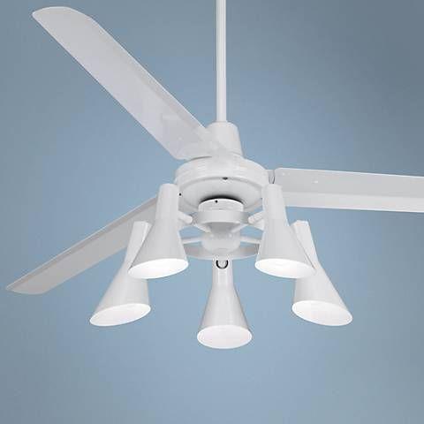 "60"" Casa Vieja Turbina White Ceiling Fan - #U4515-R1741 | Lamps Plus"