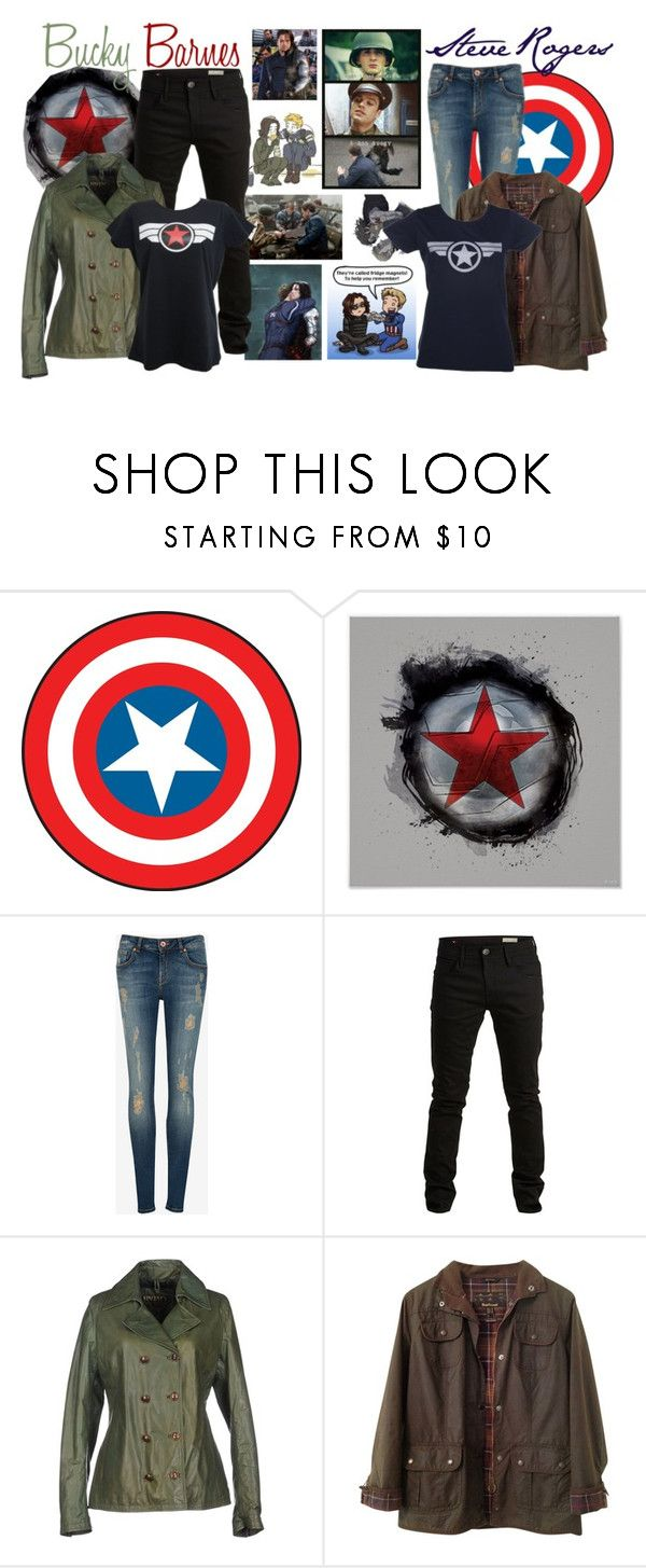 """Steve and Bucky"" by jawind ❤ liked on Polyvore featuring Sebastian Professional, RoomMates Decor, Ted Baker, SELECTED and Barbour"