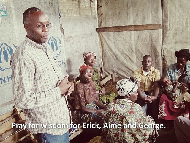 Pray for wisdom for Erick, Aime and George in the DRC.  www.handsatwork.org