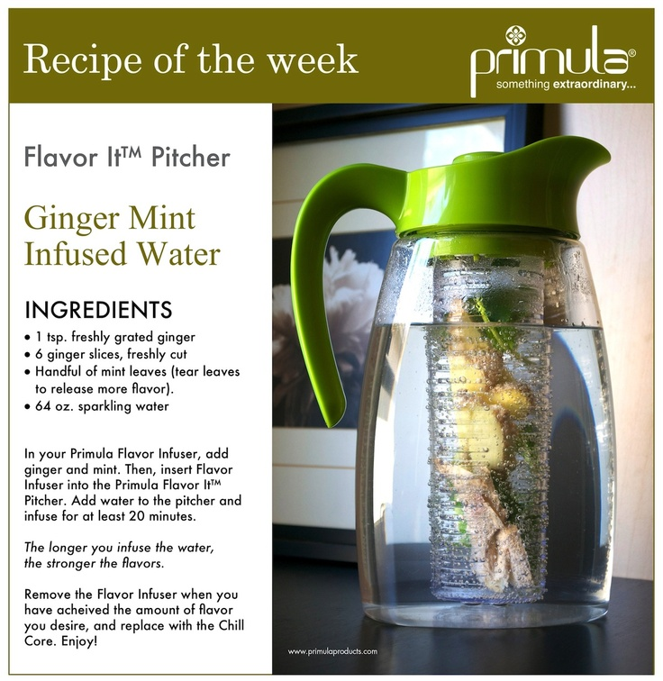 Ginger Mint Infused Water #recipe #relaxing #infusedwater