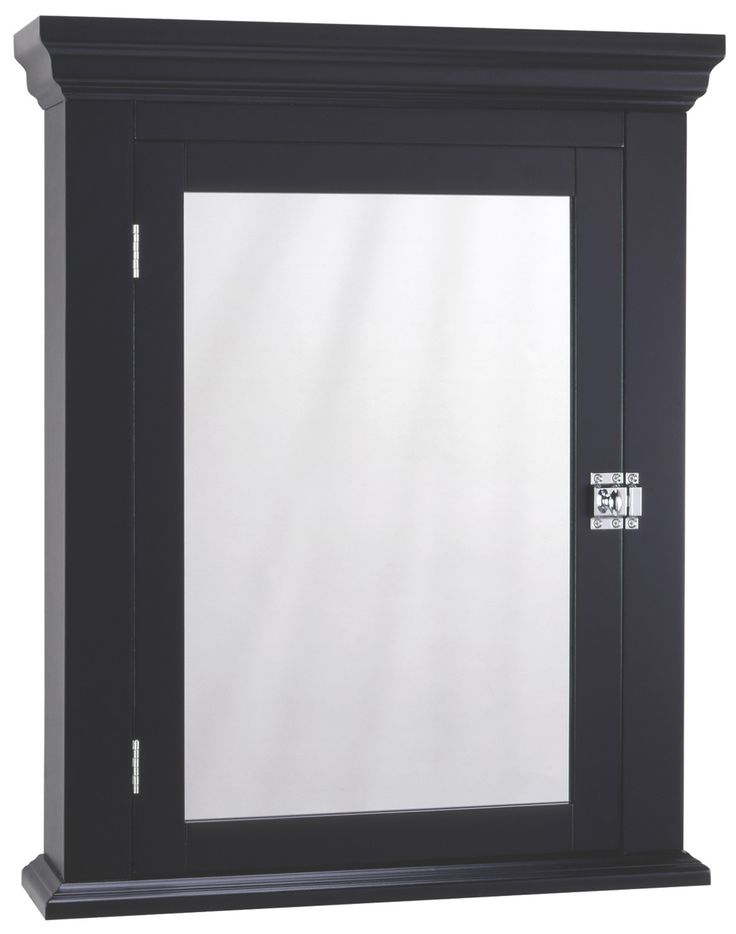 "Zenith 22.25"" x 27.25"" Wall Mounted Medicine Cabinet: paint door black and cabinet white"