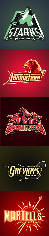 Game of Thrones Sports Team Logos