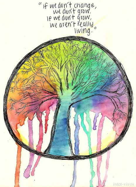 If we don't change, we don't grow. If we don't grow, we aren't really living. #quote