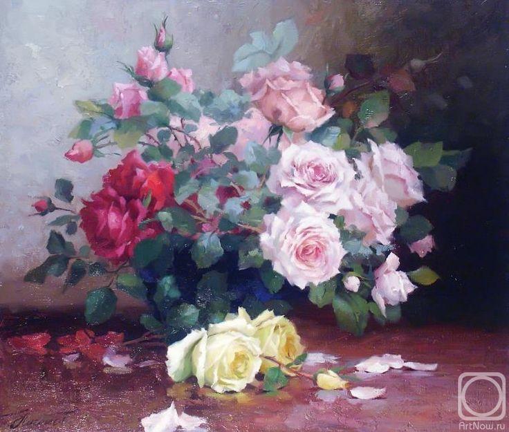 Николаев Юрий. Цветы на столе