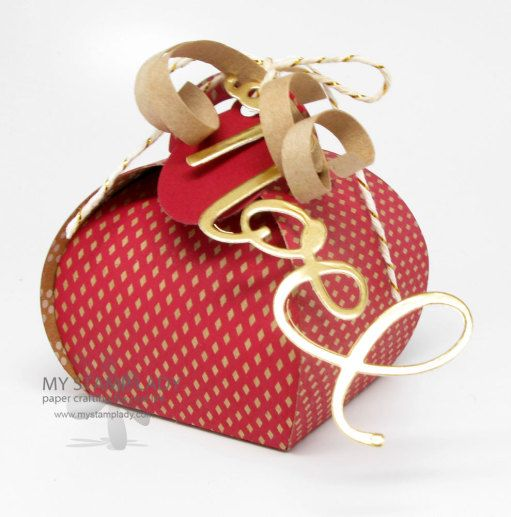 474 best cards gift boxes or containers images on pinterest use the curvy keepsakes box thinlits die to make this darling christmas box negle Images