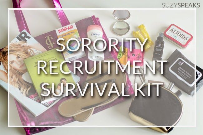 Texas A&M Sorority Recruitment Survival Kit