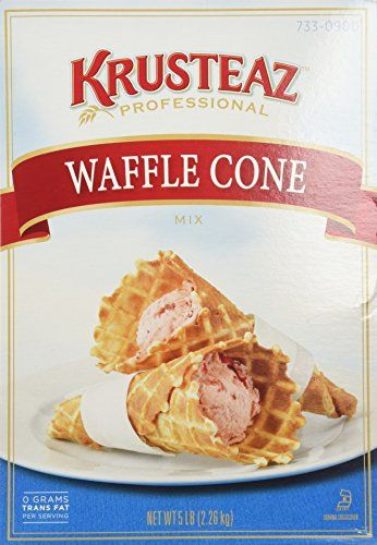 Krusteaz WAFFLE CONE Mix 5lb 2 Bags Restaurant Quality ** Learn more by visiting the image link.