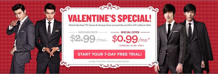 DramaFever UK Valentine's Special Discount