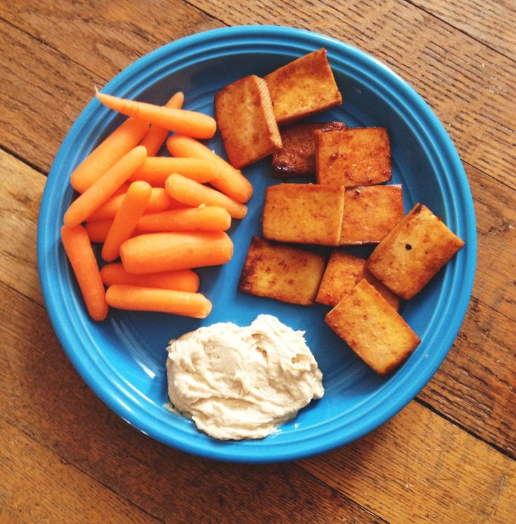 tofu, carrots, and hummus | Pretty Food | Pinterest