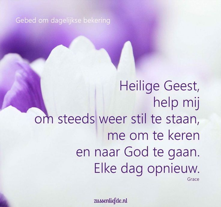 Heilige Geest, help mij om steeds weer stil te staan, me om te keren en naar God te gaan. Elke dag opnieuw. (@zussenliefde.nl)