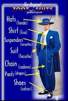 The original Zoot Suit.......my father had a zoot suit.  It was brown.  I'm not sure about the hat though.