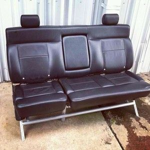 Somewhere between Bauhaus and the backseat of a Bentley is this svelte car couch