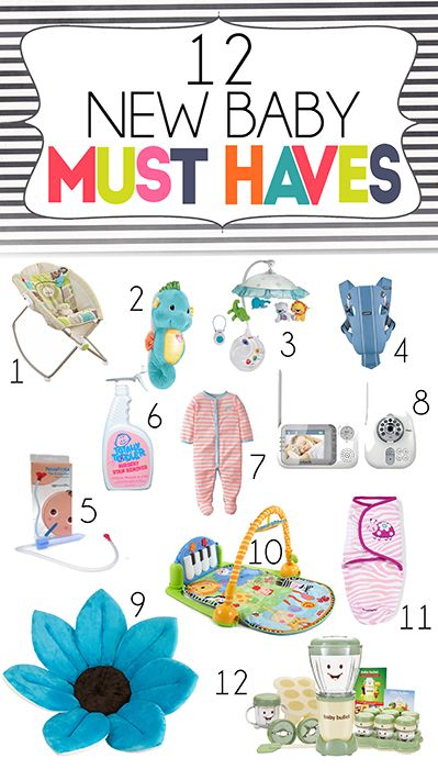 Check out my list of the top 12 must have items for new babies. This list is perfect for any first time or current parents looking to get ready for their new baby!