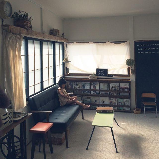 築50年の和室を改造中のお宅 ここはもと和室Comehome!vol.41掲載♡/リビング/ブックシェルフDIY/古い家を好きになるDIY…などのインテリア実例 - 2015-08-21 07:58:53 | RoomClip(ルームクリップ)