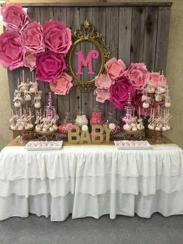 47 best images about decoraciones con flores de papel on for Baby shower decoration ideas pinterest