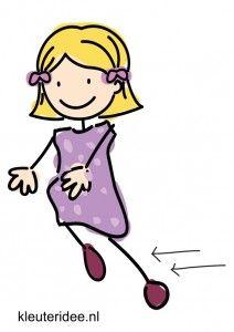 Bewegingskaart, rennen, kleuteridee.nl , free printable moving cards for preschool moving cards for preschool
