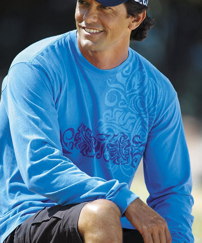 Jakarta Joe - Blue Hawaii Long-Sleeve T-Shirt