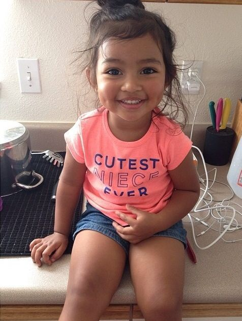 Cute little girl with dimples