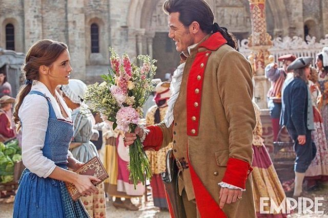 New image of Belle and Gaston from Beauty and the Beast