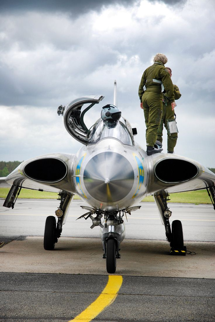 https://flic.kr/p/uy9vc4 | Untitled | Swedish Air Force Saab Draken Sk35C SE-DXP (Kauhava, Finland). Set: Aircraft + Collection: Cars, trains, planes & bikes...