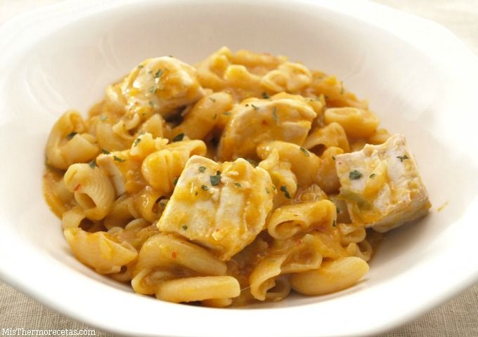 Pasta con bonito en marmitako - MisThermorecetas.com