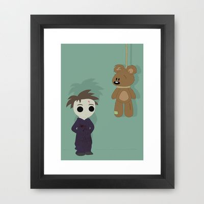 Little Michael  Framed Art Print by The Ghost and Robot - $34.00