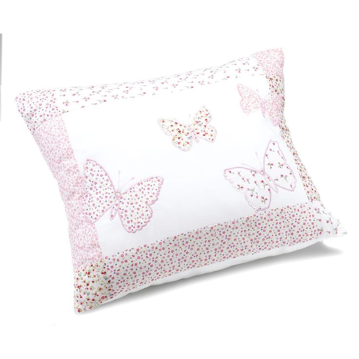 Girls Bella Butterfly Pink Cotton Decorative Cushion