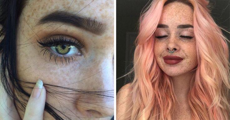 Hay personas que tienen unas pequeñas manchas en la cara producidas por el sol, llamadas pecas. Estas 15 mujeres te demostrarán que las pecas son hermosas