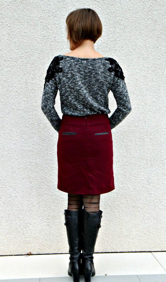 Les 124 meilleures images propos de patrons histoire de coudre sur pinterest manche patrons - Patron couture jupe droite ...