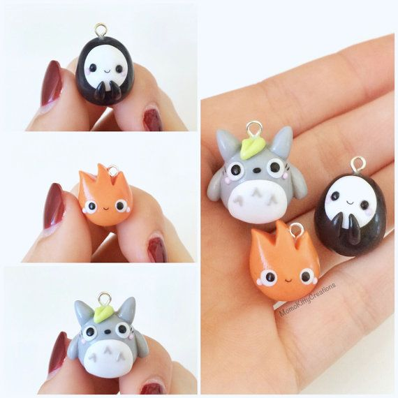 This listing is for ONE super cute Calcifer charm with the accessory style of your choice.  The Howls Moving Castle character is perfect as a