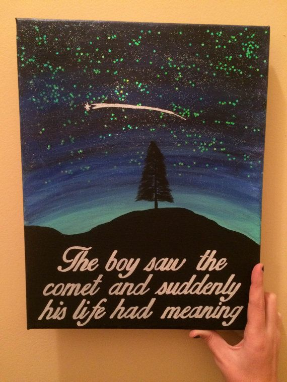ONE TREE HILL Comet Painting by CaitlinJHillDesigns on Etsy
