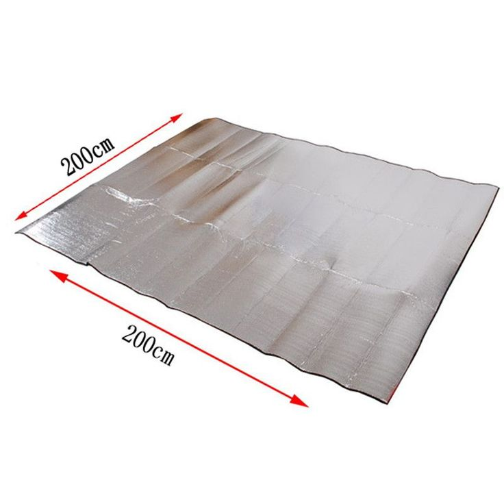Foldable Folding Brand New Sleeping Mattress Mat Pad Waterproof Aluminum Foil EVA Outdoor Camping Mat ISP