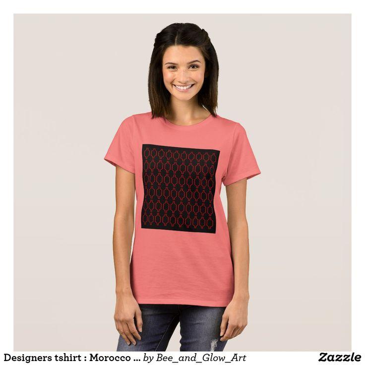 Designers tshirt : Morocco black pink