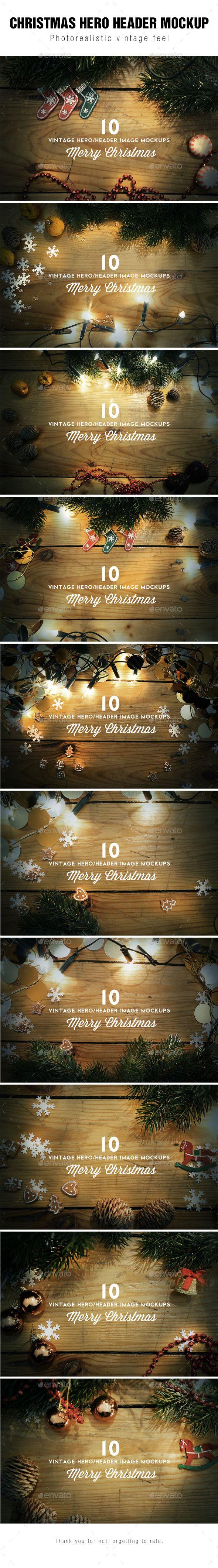 Christmas Hero / Header Images Mockup #design Download: http://graphicriver.net/item/christmas-hero-header-images-mockup/9409467?ref=ksioks