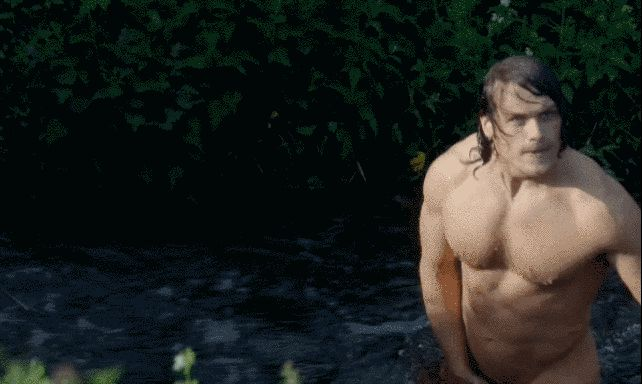 When he jumped into the river to fix the mill. | 18 Times Jamie Fraser Made You Thirsty AF