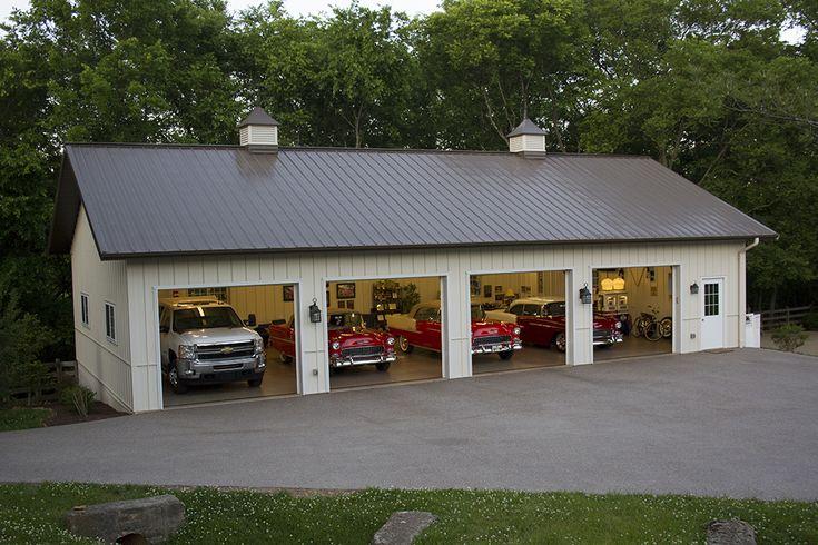 4116 morton buildings 30x56x10 garage pinterest for Garage construction ideas